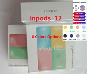 Inalámbrica Bluetooth Auriculares inpods12 e6s TWS Macaron V5.0 teléfono celular auriculares estéreo para auriculares Deportes Sweatproof Touch Auriculares 2020