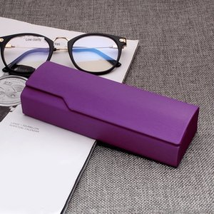 9Ltt8 Wooden simple solid color mercerized silk handmade glasses wooden high-end student glasses Storage storage box box creative pressure r