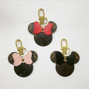 Rat Ano Designer Unisex Luxo Keychain Bolsa Pingente Bolsas Carros Chains Chaveiros Presentes para Mulheres mulheres mouse Couro Chaveiro Com Box