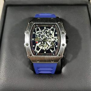 럭셔리 리처드 두개골이 스포츠 시계는 다이아몬드는 남자 여자의 석영 시계 패션 시계 전화 상감을 드릴 남자 석영 시계의 무료 배송 LU