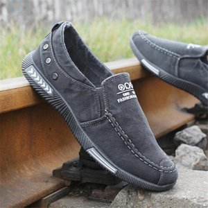 com caixa de 2020 homens sapatos Denim Lace-Up Men Casual Shoes New 2018 Plimsolls respirável Masculino calçado Primavera