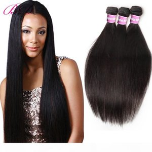 New Arrival Straight Human Hair Extensions Bundles Mink Peruvian Virgin Hair Weave With Gift For Black Women