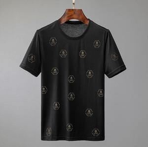 Brandneues Mens und weist Luxus designerT-Shirts Männer-ursprünglicher Entwurf skateboardT-Shirts klassische heißen drill Druck Mercerized Baumwoll-T-Shir
