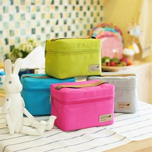 Portable Waterproof Lunch bag Heat Cold Insulation Zipper Package Outdoor Bento Storage Pouch