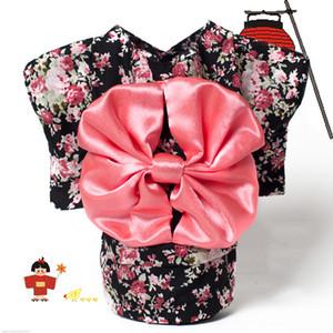 Haustier Kleidung Hund Kleid Kleidung Floral japanischen Kimono Fliege Hemd Kostüm Prinzessin Kleid Vestido Pet