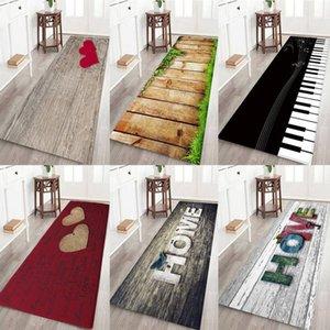 Anti-slip Home Kitchen Mat Bathroom Carpet Entrance Balcony Garden Hotel Doormat Tapete Bedroom Area Rugs Machine Washm