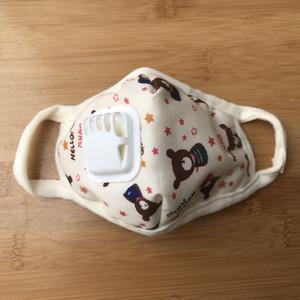 Anti-pollution masks, dust-proof masks, washable and reusable masks bear pattern children's masks