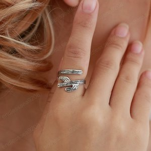 New Open Ring Fashion Fairy Tree Rings for Women girls Adjustable Jewelry for Party Wedding