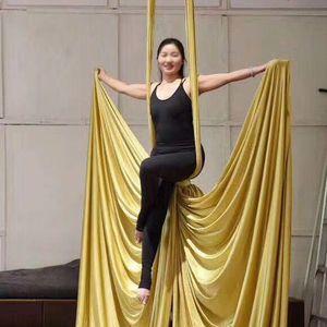 PRIMA DI IDONEITÀ aerea Sete Set 9 Yards 8.2 Metri Attrezzature Yoga amaca per casa Ginnastica Danza Body Shaping coperta