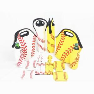 El béisbol se divierte bolsos del almuerzo del neopreno de buceo Material de rectángulo mujeres y hombres preservación del calor impermeable universal E1 26ny bolsa de picnic