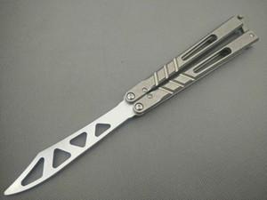 Alta qualidade O punho de titânio one-in-one AB prática lâmina borboleta flick Faca de balanço livre camping faca Acessórios podem ser vendidos