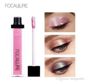 FOCALLURE brand 10 Colors Waterproof Glitter Shimmer Pigment Makeup Liquid Eye Shadow in stock
