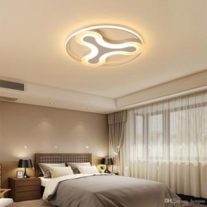 LED 천장 조명 라운드 침실 거실 아크릴 북유럽 초박형 창조적 천장 조명 실내 조명 RC 디 밍이 펜던트 램프