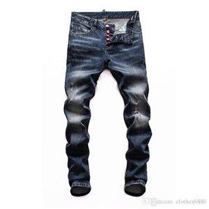 erkekler mor marka kot için erkek 2020 lüks tasarımcı pantolon sıkı klasik dizel araba Kare kot erkekler tasarımcı kot