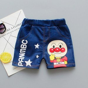 Boys boutique clothing kids clothing summer new grils pants Korean tide boy shorts bread superman denim shorts