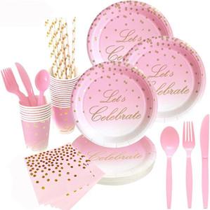 Одноразовые бумажные тарелки девичник украшения для вечеринок свадебные принадлежности
