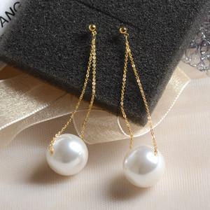 20190825 Big Pearl Chain Ear Nails