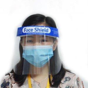 Face Shield защитная маска анфас прозрачная лента эластичная многоразовая прозрачная анти всплеск Faceshield маски 4000шт морская доставка OOA7833