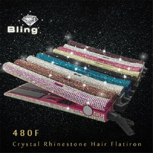 DHL Shipping 2020 Hot New Wholesale all'ingrosso Ms Glam Crystal Strass Flat Flat Hair Hair Direter Styling Tools