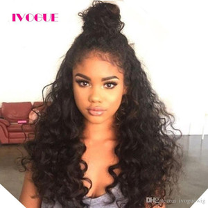 Virgin Indian Full Lace Human Hair Wigs For Black Women Kinky Curly Lace Front Human Hair Wig With Baby Hair Ponytail Wig