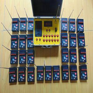 108 Cues à distance récepteurs partie cadeau de mariage jaune 433MHz connexion cé fil de cuivre ligne jaune fil Accueil des feux d'artifice de jardin Système de mise à feu