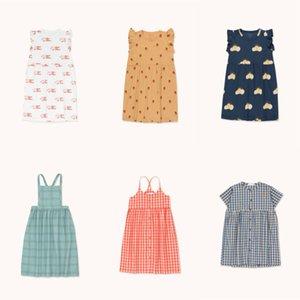 Çocuklar Elbise 2020 İlkbahar Yaz StRafina Kız Giydirme Minik Bebek Pamuk Moda Tek Parça Kayma Pricess Parti Çocuk Giyim