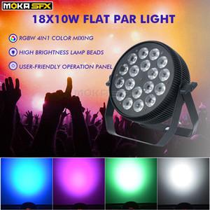 2pcs / lot 18 * 10W LED de luz de la igualdad RGBW 4in1 Aplique en venta Piso Dj luz de la igualdad luces del escenario para bodas Discoteca Fiesta