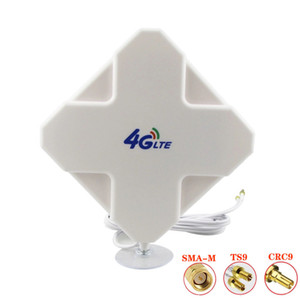 High Gain 3G 4G LTE Outdoor 28dBi Directional Wide Band MIMO Antenna 700-2700MHz 2 meters RG174 Panel Antenna