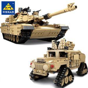 КАЗЬТЕ Новую тему танкостроения блоков 1463pcs Строительных блоки M1A2 ABRAMS MBT KY10000-Изменение-Игрушка Танк модель Игрушка для детей