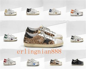 Moda Itália Goleden Old Style DB Sneakers Couro vilosidades Derme calçados casuais dos homens / mulheres Superstar instrutor Tamanho US5-11