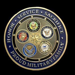 100 adet Olmayan manyetik ABD askeri rozeti 50mm büyük boy renkli hatıra sikke altın kaplama hava kuvvetleri madalya dekorasyo ...