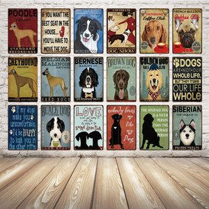 Poodle Border Collie Metal Sign Tin Dog Siberian Poodle Bernese Poster Home Decor Bar Wall Art Painting 20*30 CM Size Pictures