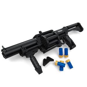 373 PCS DIY 고품질 Nerfs 엘리트 총 샷건 장난감 총 모델 빌딩 블록 세트 플라스틱 장난감 선물 어린이