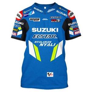 Yeni Suzuki Kros Gömlek Dağ Bisikleti Hız Kuru Giyim Motokros Binme Tişört Man Adası tt Araç Fan Kısa Şövalye Mob'lar yarım kollu