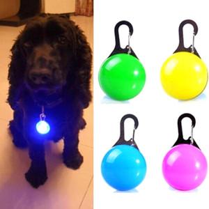 Luminous Bright Glowing In Dark Pet Dog LED Glowing Pendant Necklace Safety Puppy Cat Night Light Flashing Collar Pet