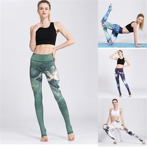 Fitness Yoga Pants Women Leggings Floral Workout Sports Running Leggings Sexy Push Up Gym Training Wear Elastic Slim Pants