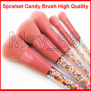 2020 Nouvelle Lollipop bonbons Unicorn cristal maquillage Pinceaux coloré Belle Fondation Blending de maquillage outil Pinceau maquillage