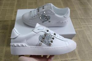 Moda para mujer para hombre zapatos de diseño de lujo zapatillas de cuero de bajo con top de alta calidad con logotipo impreso zapatillas tonguecasual tamaño 35-46