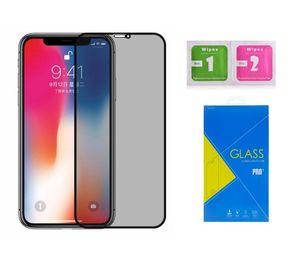아이폰 XR을 완벽하게 커버 안티 스파이 개인 정보 보호 강화 유리 화면 보호기 소매 패키지와 11 프로 X가 최대 8 7 플러스