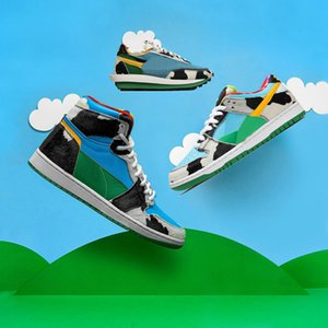 New Chunky Dunky 1s Basketball Shoes Ice Cream SB Dunk Sacai Waffle Running Shoes 270s React Sports Sneakers Size 36-45