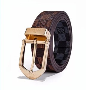 Good Qualtiy Cinturones para hombre Aleación Hebilla lisa Cinturones de cuero genuino alto para los hombres Cinturón de cintura sin caja A-778