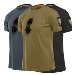 Outdoor Sport Men Tactical T-Shirts Military Hiking Tee Shirt Special Arms Loose Cotton Quick Dry Short Sleeves Solid Breathable