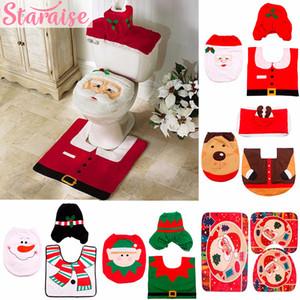 الحديث عيد الميلاد الحلي غطاء مقعد المرحاض دش الستار البساط زينة للمنزل ديكور السنة الجديدة 2019 عيد الميلاد suppies