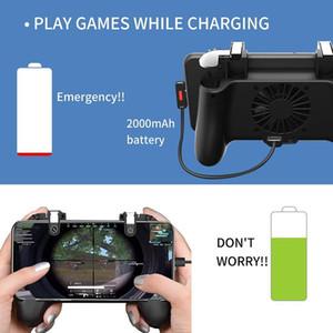 4 В 1 Геймпад Джойстик Holder Gaming Controller Вентилятор охлаждения радиатора Рукоятка заряжания Power Bank Shooter Trigger огня Кнопка для смартфона