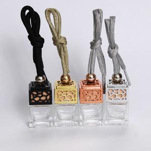 5ml / 10m Uçucu Yağlar Yayıcı Parfüm Boş Cam Şişe için Araç Parfüm Şişesi Yeni Tasarım Hollow Asma Parfüm Süsleme Oda Parfümü