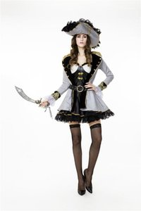 Pirate Costume Theme Designer Queen Stage Halloween Dress Clothes Cosplay Women