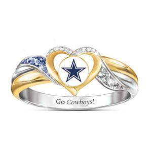 Personalizzato Two Tone Color Oro American Western Cowboy anello di alta qualità zircone Micro intarsiato Anniversary Party Anelli Articoli da regalo
