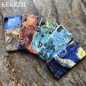 Para Van Gogh pintura del arte abstracto mate caja del teléfono duro para iphone x xr xs max 8 7 6 6 s más noche estrellada contraportada