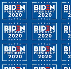 America President Facial Sticker Biden Elected Face Paste With Glossy Lamination Blue Color Paster Decorative Stickers Hot Sale 1lg C2