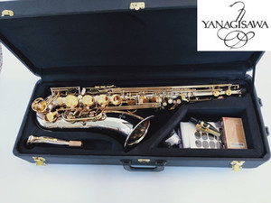 Livello professionale B Flat Tenor Saxophone Yanagisawa T-9937 nichel argento Ottone bocchino per sax Patches Pad Ance Bend collo